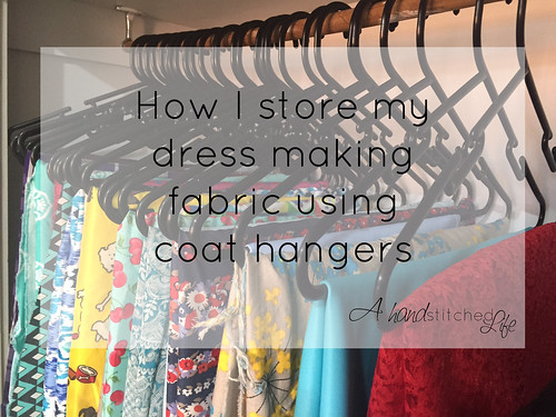 how i store my dress making fabric