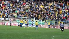 Resignación albinegra tras el segundo gol