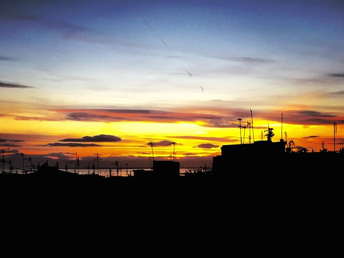 sunset sky skyline horizon greece macedonia thessaloniki timeless antennas μακεδονια
