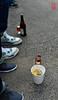Sneakers, ramen, beer.
