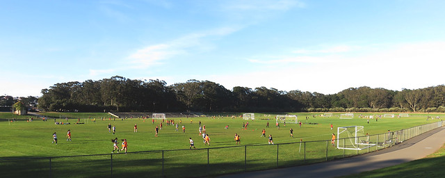 Soccer games at Polo Fields; Golden Gate Park, San Francisco.  April 15, 2015