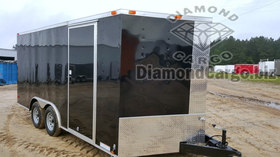 We Have Black And White 85x16 Diamond Cargo Trailers Available Now Call Us For Any Custom Orders Please Allow 10 Days Other Colors 15 Working