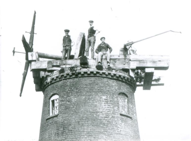 Top of Ellerker Mill (Demolition) 1913 (archive ref DDEY-1-67)