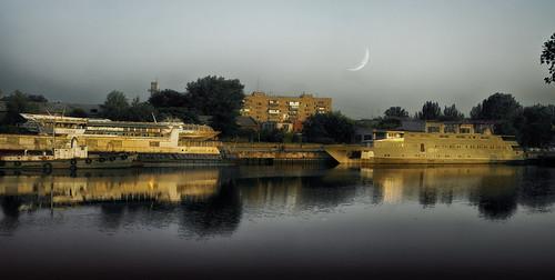digitalphoto digitalart landscape river evening reflection vater impression