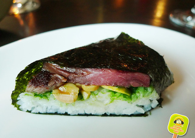 NOREETUH - corned beef tongue musubi