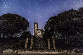 Luttrells Tower - calshot, star trails