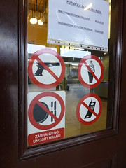 No guns, ice cream, mobile phones, plates or cutlery