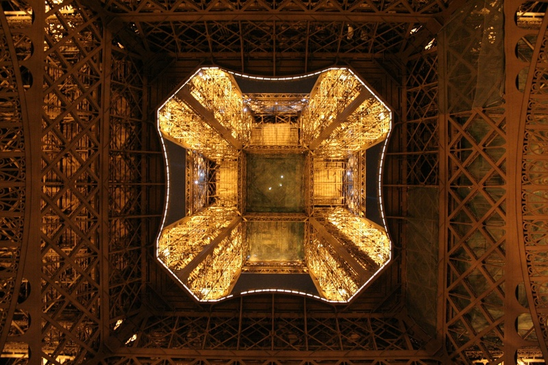 below Eiffel Tower