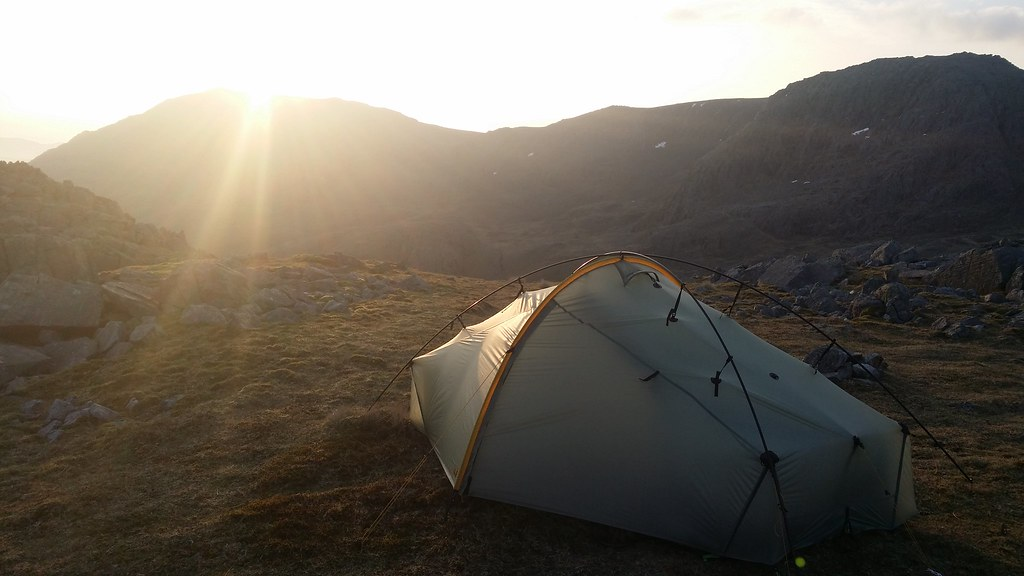Sunrise at camp on Lingmell #sh