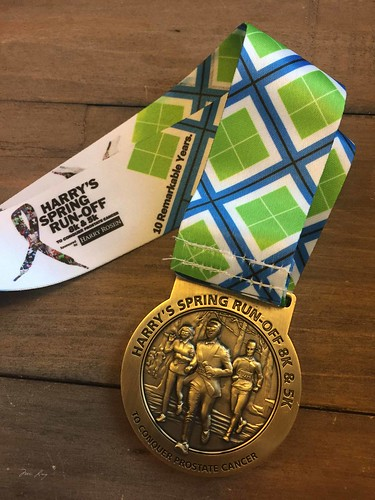 Harry's Spring Run-off 2015 medal.
