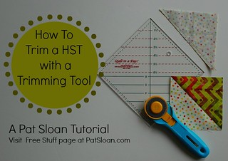 Pat Sloan Tutorial How on Trimming tool