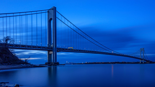 nyc newyorkcity longexposure bridge sunset urban usa newyork architecture brooklyn canon statenisland verrazanobridge canonef24105mmf4lisusm
