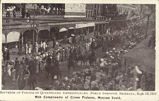 Parade of Queensland Expeditionary Force through the streets of Brisbane, 14 September 1914