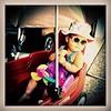 Cruising the hood in her hooptie. #cecelia