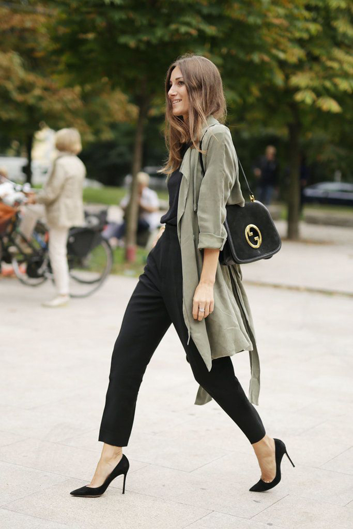 Military style green olive street style inspiration05