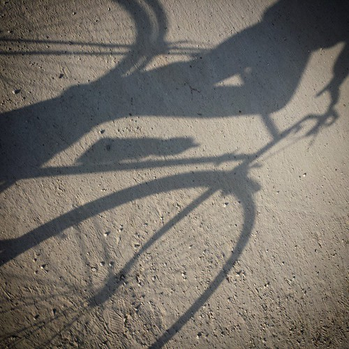 'Belgium is on strike again...' - #Brussels #belgium 2015 #bike #nationalstrike #strike #photography  #cycling #shadow #selfie