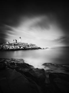 Nubble Light - Cape Neddick Lighthouse. Cape Neddick Lighthouse, York Maine, USA 2014.
