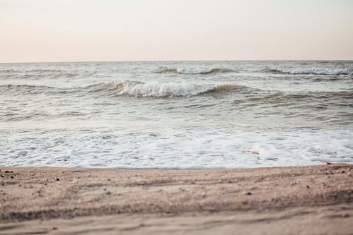 morning sea beach nature water sunrise sand waves ukraine azov