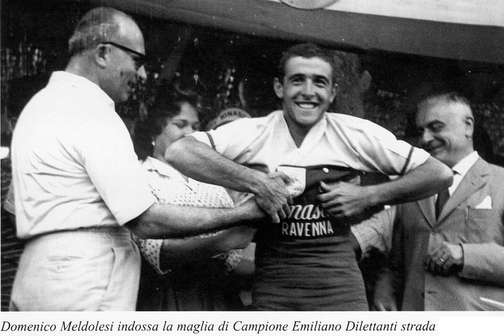 Meldolesi Domenico indossa la maglia di campione emiliano dilettanti strada foto inviata da Gatti Franco