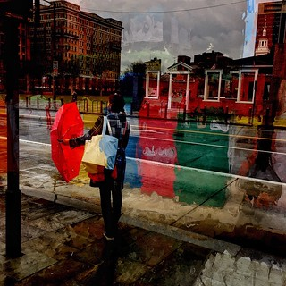 Red umbrella - #red #umbrella #rain #Philadelphia #independence #IPhoneography #Iphoneonly #Mobilephotography #photography