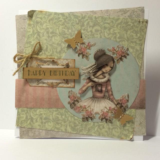 Mirabelle birthday card by StickerKitten