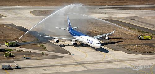 LAN A340-300 CC-CQF retiro de flota (S.Blaise)