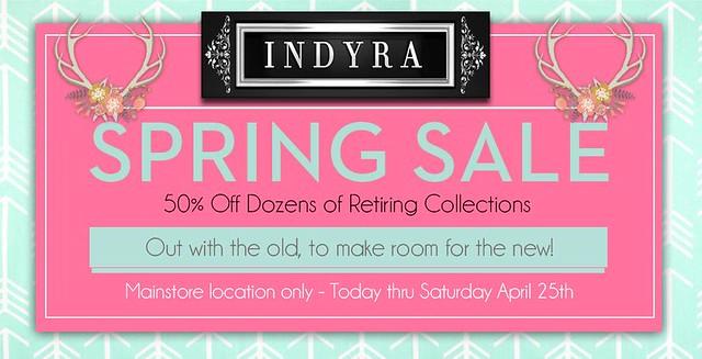 Indyra Spring Sale