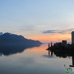 Sunset Along Lake Geneva - Montreux, Switzerland