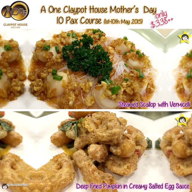AOne Claypot Mothers Day 10pax Menu