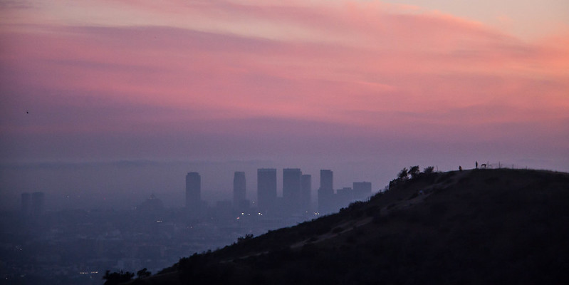 Century City at Magic Hour from Runyon Canyon - Los Angeles, CA