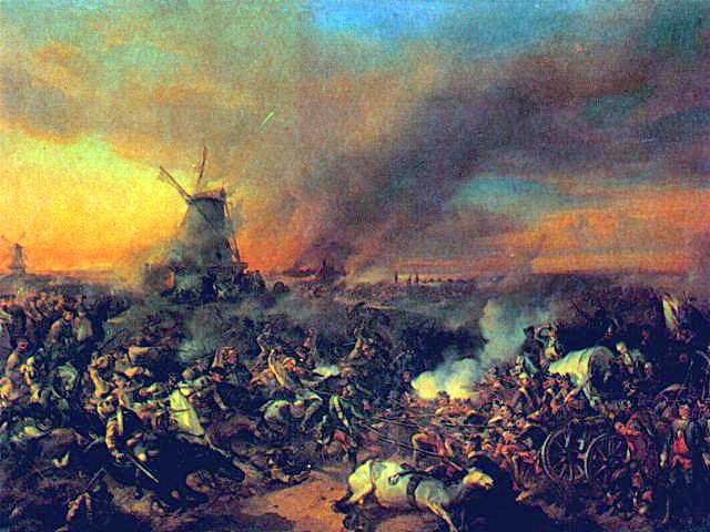 Battle of Zorndorf, by Alexander Kotzebue