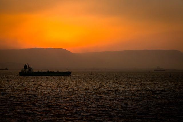 Suez nightfall