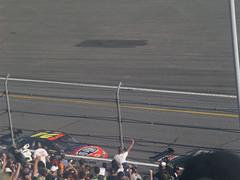 26 Dale Earnhardt Jr. leads Jeff Gordon in the Daytona 500