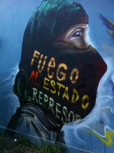 Universidad Tecnológica Metropolitana (UTEM) en toma murales 24 julio 2016