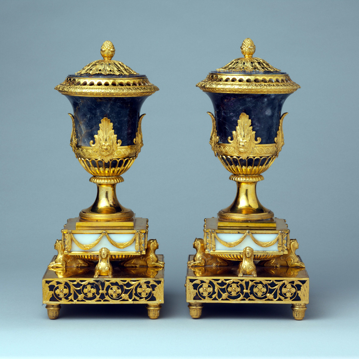 1770. Pair of perfume burners. Matthew Boulton. Credit metmuseum.org
