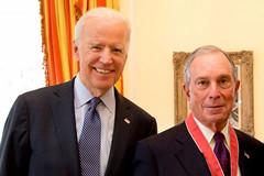 Joe Biden and Michael Bloomberg