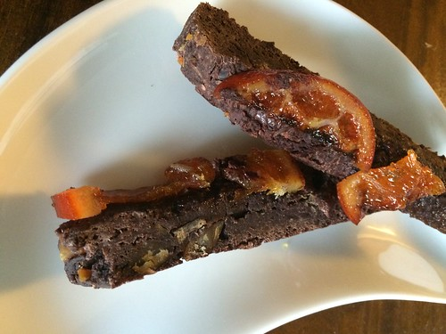 Orange chocolate biscotti