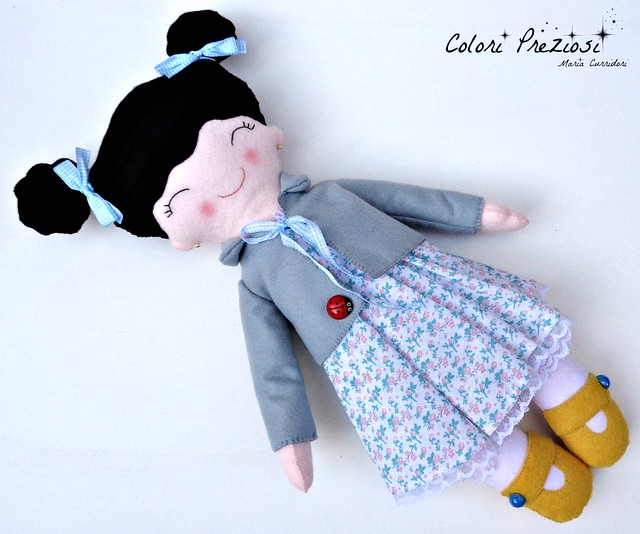 Sweet felt doll for Emma