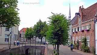 Biking in the city of Amersfoort, Netherlands - 2609