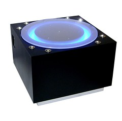 Black Laminate Pedestal with all the Lights and Whistles