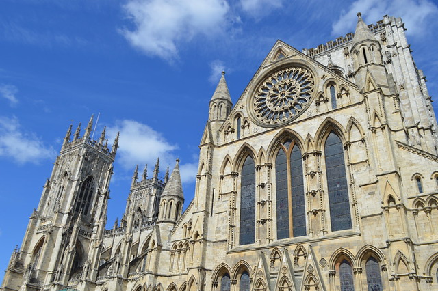 This is a photo of York Minster on a sunny day