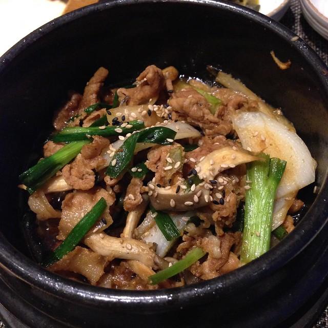 Jeju black pork sauteed with vegetables