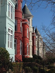Row houses on P Street NW, Georgetown, Washington, D.C.