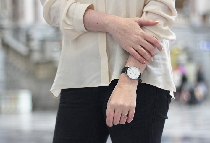 outfit: daniel wellington watch, diamanti per tutti rings