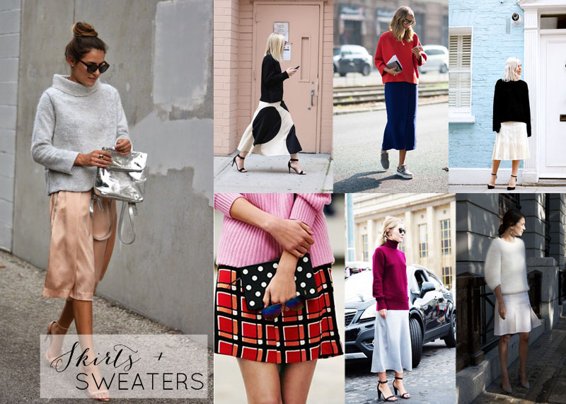 skirts and sweaters