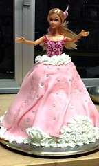 food(0.0), gown(1.0), quinceaã±era(1.0), dessert(1.0), pink(1.0), dress(1.0), doll(1.0), barbie(1.0), toy(1.0),