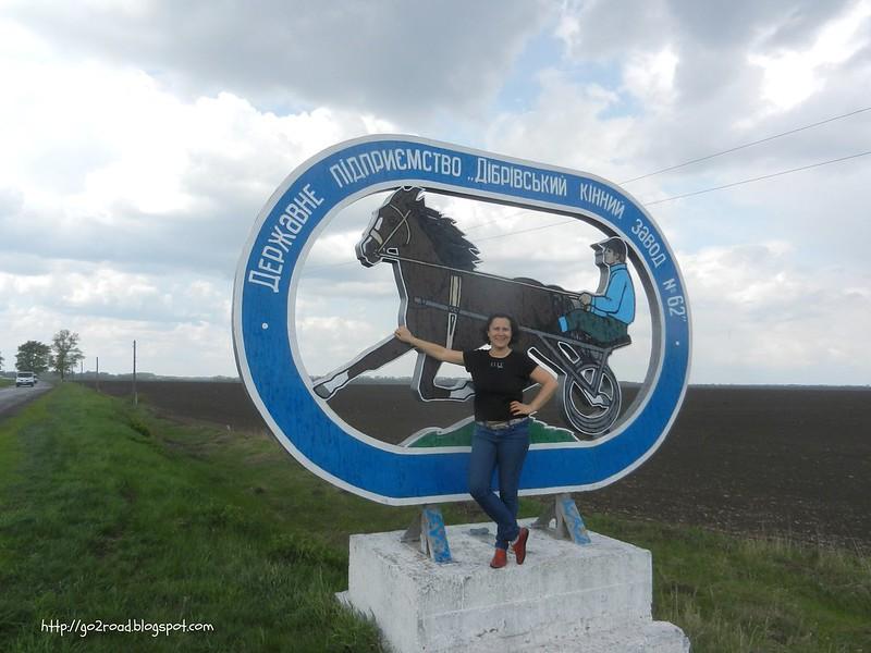 Въезд в Дибровку