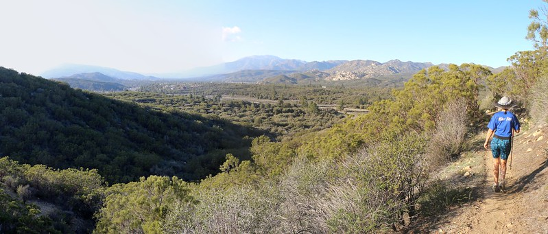 Panorama view north toward San Jacinto Peak from the saddle on Lookout Mountain