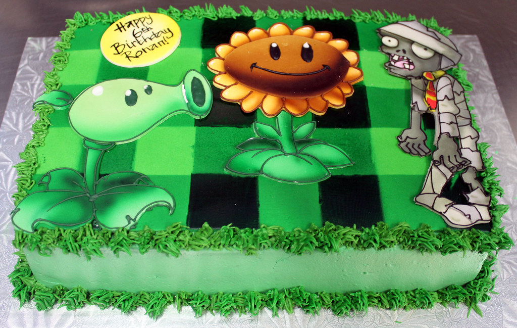 Plants Vs Zombies  Birthday Cake