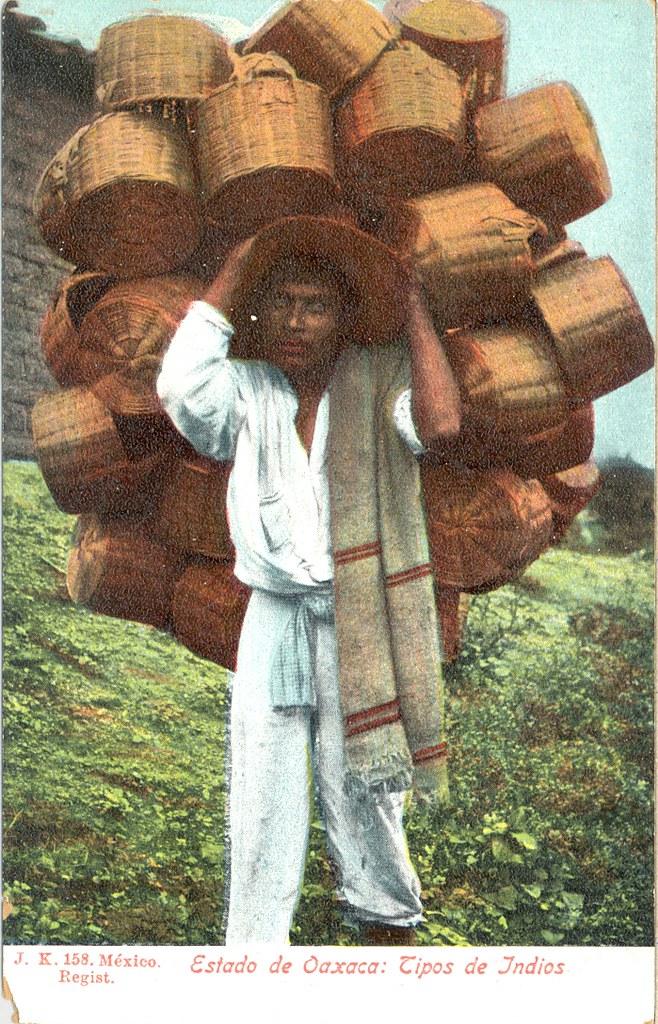 Postcard Vintage Mexican Oaxaca